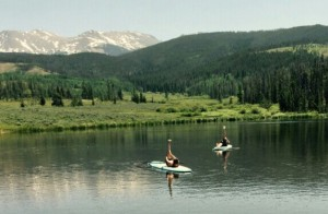 paddleboard yoga in Colorado
